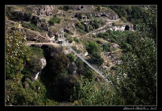 Armenia - Khndzoresk - a footbridge