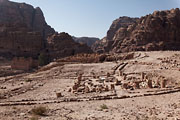Petra - Qasr-al-Bint and Winged-Lion temple