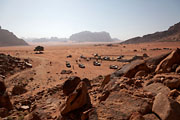 Wadi Rum - parking at the Lawrence spring
